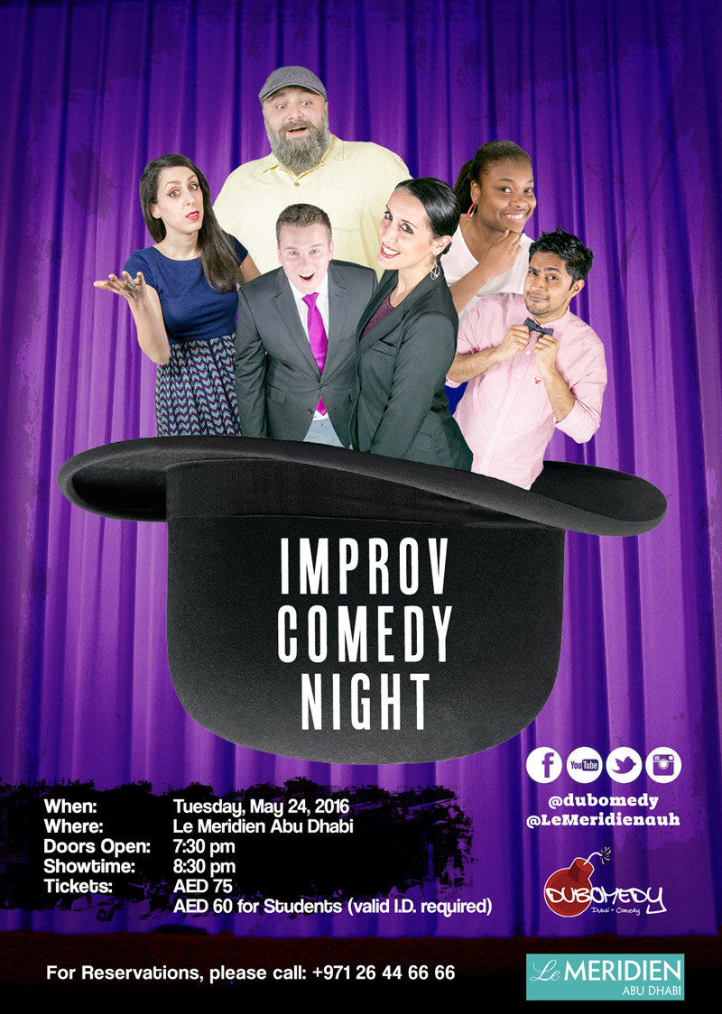 Event Flier - Improv Comedy Night