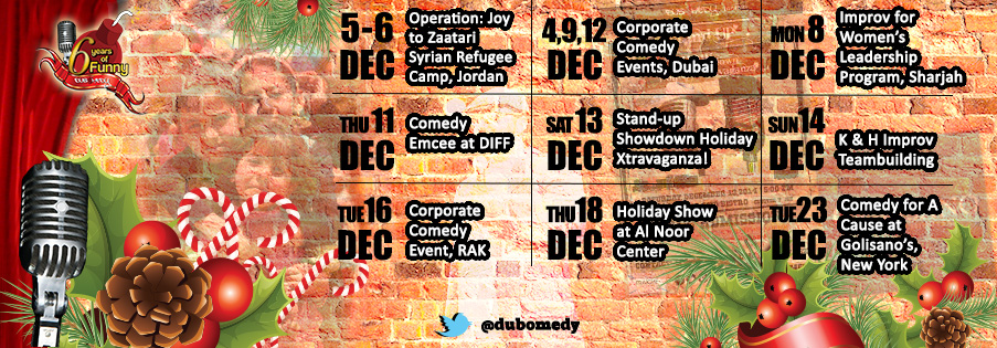 December schedule of events